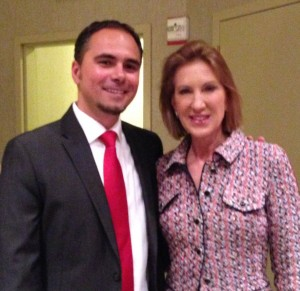 Mircea and Carly Fiorina